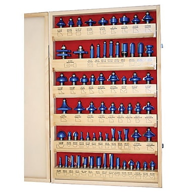 Craftex Blue Tornado™ 66 Piece Master Router Bit Set (R966)