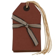 JAM PaperMD – Étiquettes pour emballage-cadeau avec ficelle, moyen, 2,38 x 4,25 po, papier kraft rouge, 18/paquet (297525315 g)