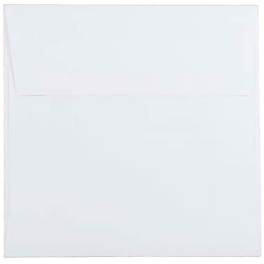 JAM PaperMD – Enveloppes carrées standard avec fermeture gommée, 5 1/2 x 5 1/2 po, blanc, 1000/pqt