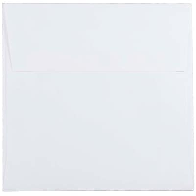 JAM Paper® 5.5 x 5.5 Square Envelopes, White, 250/box (28415H)