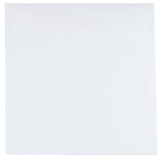 JAM Paper® 7 x 7 Square Invitation Envelopes, White, 50/Pack (28209I)
