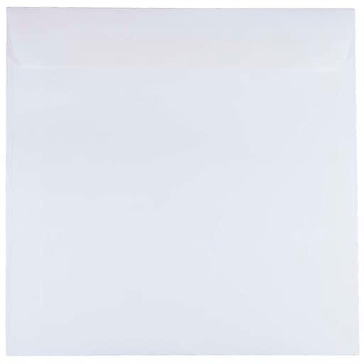 JAM Paper® 8.5 x 8.5 Square Invitation Envelopes, White, 50/Pack (4231I)