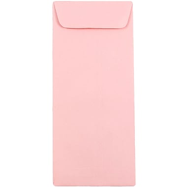 JAM Paper® #10 Policy Envelopes, 4 1/8 x 9.5, Baby Pink, 100/Pack (3961301g)