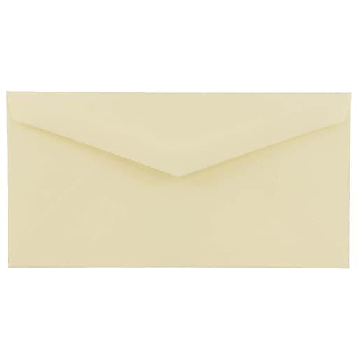 JAM Paper® Monarch Envelopes, 4.5 x 8.125, Ivory, Bulk 250/Box (4093016H)