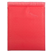 Bubble Padded Mailers with Peel and Seal Closure, 12 x 15.5, Red Matte, 12/Pack (31406017)