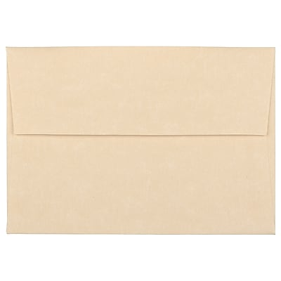 JAM Paper® 4bar A1 Envelopes, 3 5/8 x 5 1/8, Parchment Brown Recycled, 250/box (900755332H)