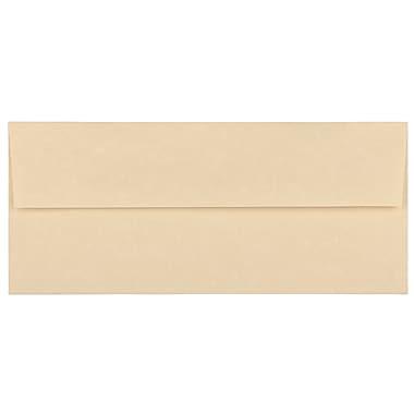 JAM PaperMD – Enveloppes en papier parchemin recyclé avec fermeture gommée, 4 1/8 x 9 1/2 po, brun, 1000/paquet