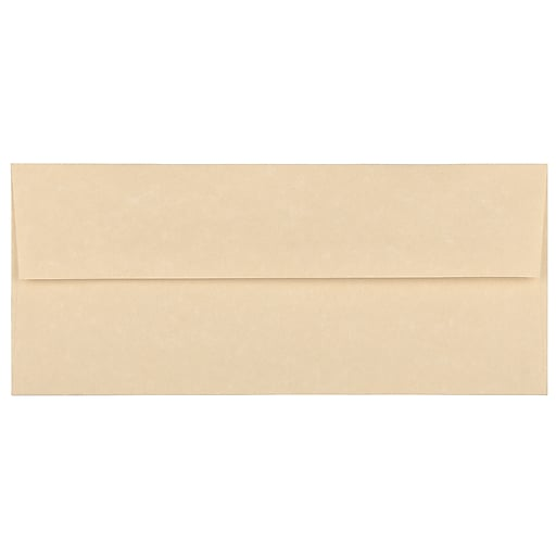 JAM Paper® #10 Parchment Business Envelopes, 4.125 x 9.5, Brown Recycled, Bulk 500/Box (V01722H)