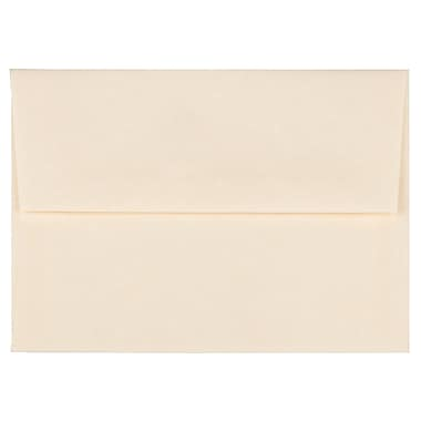 JAM Paper® A2 Invitation Envelopes, 4.38 x 5.75, Parchment Natural Recycled, 100/Pack (34777g)