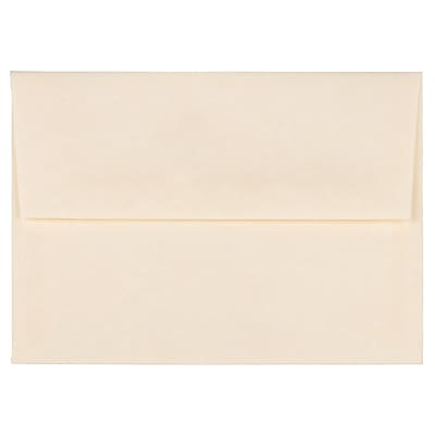 JAM Paper® A2 Invitation Envelopes, 4 3/8 x 5 3/4, Parchment Natural Recycled, 250/box (34777H)