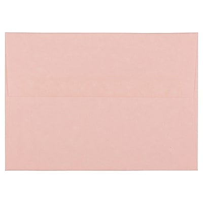 JAM Paper® A6 Invitation Envelopes, 4.75 x 6.5, Parchment Pink Recycled, 1000/carton (97818B)