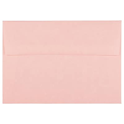 JAM Paper® A7 Invitation Envelopes, 5.25 x 7.25, Parchment Pink Recycled, 250/box (97834H)