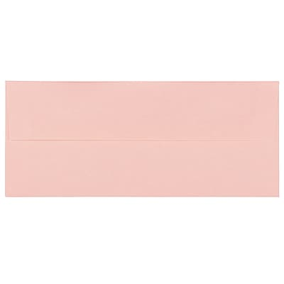 JAM Paper® #10 Business Envelopes, 4 1/8 x 9 1/2, Parchment Pink Recycled, 500/box (V01728H)