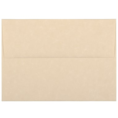 JAM Paper® A6 Invitation Envelopes, 4.75 x 6.5, Parchment Brown Recycled, 100/Pack (35220g)