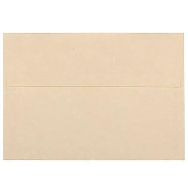 JAM PaperMD – Enveloppes en papier-parchemin recyclé avec fermeture gommée, 5 1/4 x 7 1/4 po, brun, 100/paquet