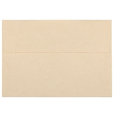 JAM Paper® A7 Invitation Envelopes, 5.25 x 7.25, Parchment Brown Recycled, 1000/carton (35311B)