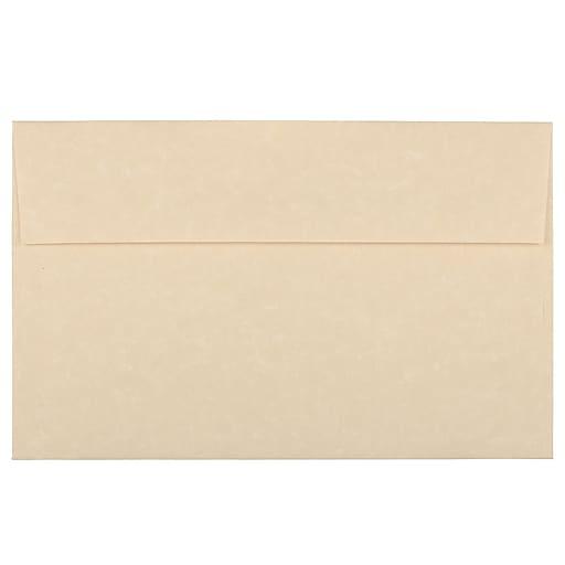 JAM Paper® A10 Parchment Invitation Envelopes, 6 x 9.5, Brown Recycled, Bulk 250/Box (52074H)