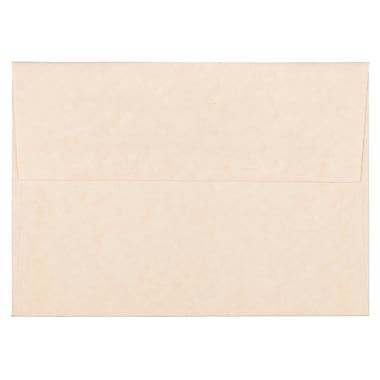 JAM Paper® A6 Invitation Envelopes, 4.75 x 6.5, Parchment Natural Recycled, 250/Pack (34926H)