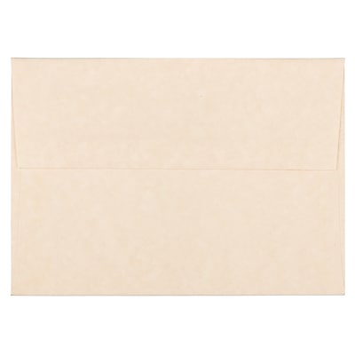 JAM Paper® A6 Invitation Envelopes, 4.75 x 6.5, Parchment Natural Recycled, 1000/carton (34926B)
