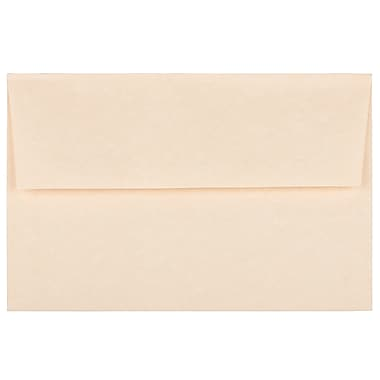 JAM Paper® A8 Invitation Envelopes, 5.5 x 8.125, Parchment Natural Recycled, 100/Pack (5029g)