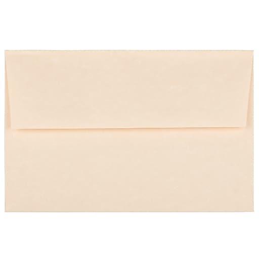 JAM Paper® A8 Parchment Invitation Envelopes, 5.5 x 8.125, Natural Recycled, Bulk 1000/Carton (5029B)