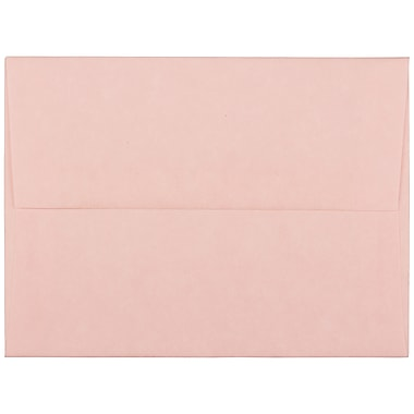 JAM Paper® A2 Invitation Envelopes, 4.38 x 5.75, Parchment Pink Recycled, 100/Pack (97800g)