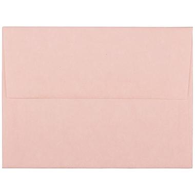 JAM PaperMD – Enveloppes en papier parchemin recyclé avec fermeture gommée, 4 3/8 x 5 3/4 po, rose pâle, 1000/paquet