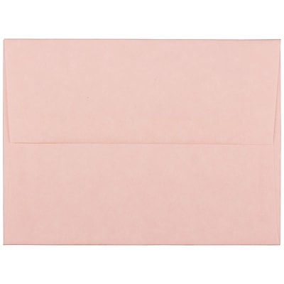 JAM Paper® A2 Invitation Envelopes, 4 3/8 x 5 3/4, Parchment Pink Recycled, 250/box (97800H)