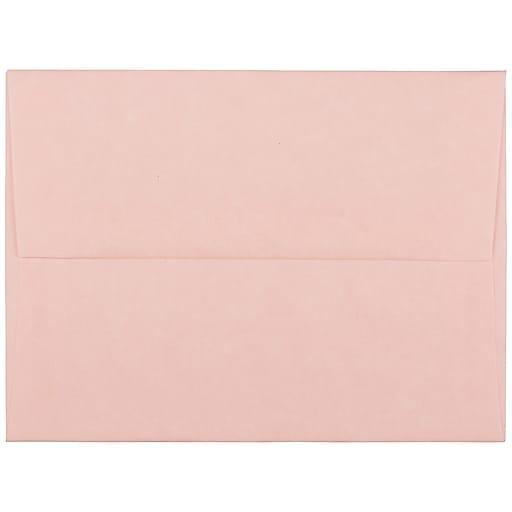 JAM Paper® A2 Parchment Invitation Envelopes, 4.375 x 5.75, Pink Recycled, Bulk 250/Box (97800H)
