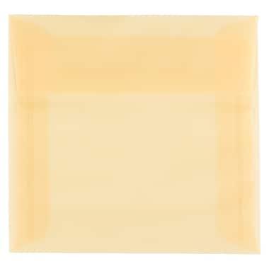 JAM Paper – Enveloppes translucides carrées de 6 x 6 po, Ocre printanière, 50/paquet