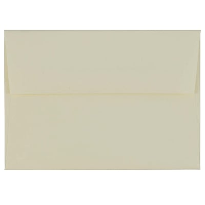 JAM Paper® 4bar A1 Envelopes, 3 5/8 x 5 1/8, Ivory Laid, 1000/carton (900734088B)