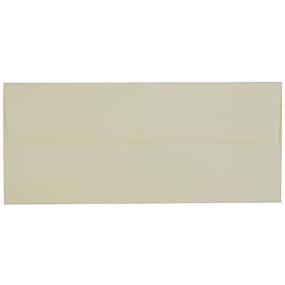 JAM Paper® #10 Business Envelopes, 4 1/8 x 9 1/2, Strathmore Ivory Laid, 1000/carton (17877B)