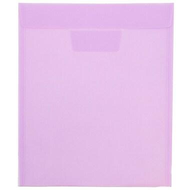 JAM PaperMD - Enveloppes en plastique avec ouverture au sommet et rabat à insertion, 9 7/8 x 11 3/4 po, lilas, 12/paq.