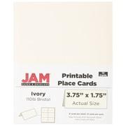 JAM Paper MD – 65 lb Cartons de table imprimables, 8 1/2 x 11 po, ivoire, paq/36