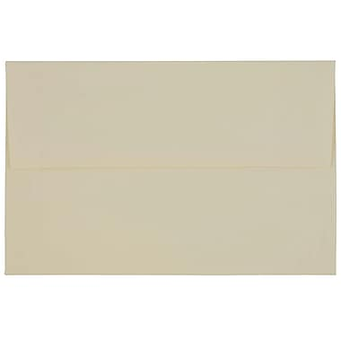 JAM PaperMD – Enveloppes Strathmore à ouverture latérale et à rabat gommé, fini vélin, 6 x 9 1/2 po, blanc naturel, 100/pqt