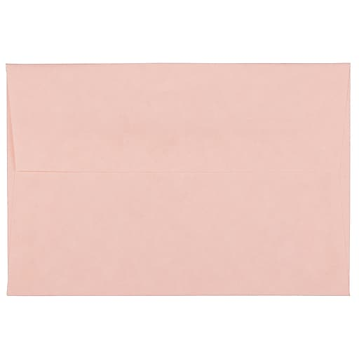 JAM Paper® 4Bar A1 Parchment Invitation Envelopes, 3.625 x 5.125, Pink Recycled, Bulk 250/Box (123456H)
