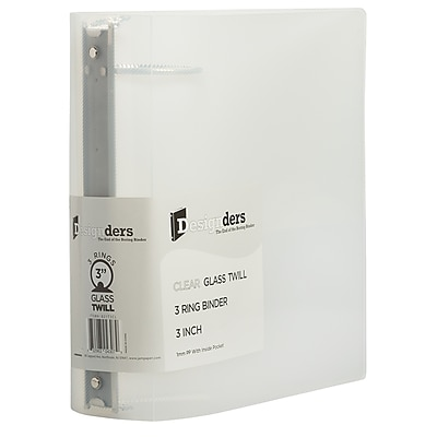 JAM Paper® Plastic 3 Ring Binders, 3 Inch, Clear, 108/pack (821T3CLB)