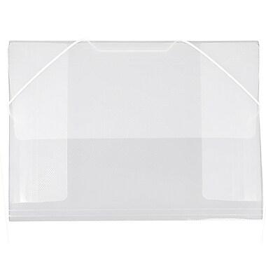 JAM PaperMD – Porte-documents/étui en plastique, 9 1/2 x 12 3/8 po, séparateur transparent, paquet de 6