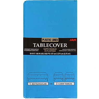 JAM Paper® Paper Table Covers, Sea Blue Table Cloths (291329701)