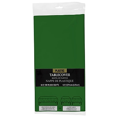 JAM Paper® Plastic Table Covers, Green Table Cloths (291429697)