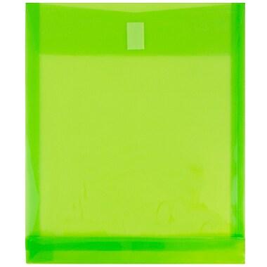 JAM Paper® Plastic Envelopes with VELCRO® Brand Closure, 1