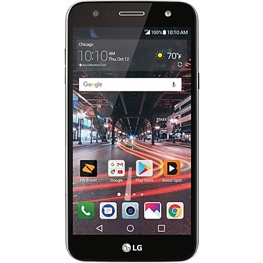 LG X Charge 5.5-inch Unlocked Cell Phone, 16 GB, 1.5 GHz Qualcomm Snapdragon, Android 7.0 (Nougat), Silver