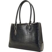 "Mobile Edge Milano Black Faux-Croc 17.3"" Laptop Large Handbag"