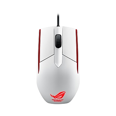 Asus ROG Sica Wired USB Gaming Mouse, Glossy White (180078)