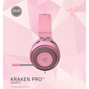 Razer Kraken Pro V2 Quartz Edition Analog Gaming Headset, Oval