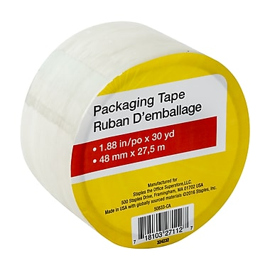 Staples® General Purpose Packaging Tape, 48 Mm x 2