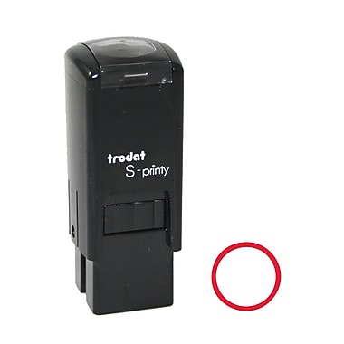 Trodat® S-Printy 4921 Self-Inking Mini Stamp, Circle Impression, Red Ink