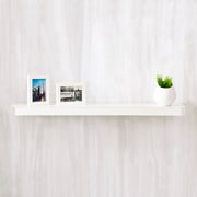 "Way Basics 35.4""W x 1.6""H Uniq Floating Wall Shelf and Modern Decorative Eco Shelf, White (WS-36-WE)"