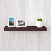 "Way Basics 23.6""W x 1.6""H Uniq Floating Wall Shelf and Modern Decorative Eco Shelf, Espresso (WS-24-EO)"