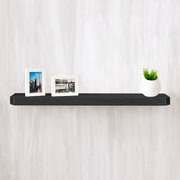 "Way Basics Eco Friendly 36"" Uniq Floating Wall Shelf and Decorative Shelf, Black - Lifetime Guarantee"